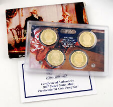 2007 Presidential Dollars 4 pc Proof Set OGP Original Government Packaging