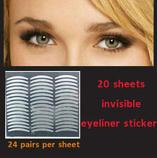 20 sheets Instant Upper Eyelid Lift Strips for Droopy Invisible Eyeliner sticker