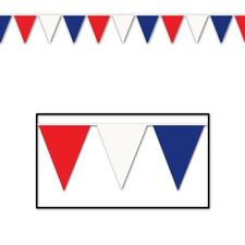 Red White Blue Union Jack Bunting Banner Garland Party Decorations 40 Flags 25m