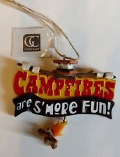 CAMPFIRES ARE S'MORE FUN! Giftcraft Collectible Christmas/Seasonal Ornament NWT
