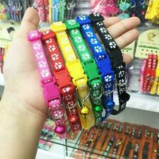 Nylon Dog Collars Adjustable Pet Puppy Cat Collar Tag with Bell Free h 02