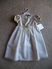 Girls  Victoria Rose  cream party wedding special occasion dress  Size 2  NWT