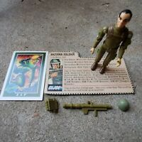 Vintage GI Joe Figure 1982 Zap Complete with file card