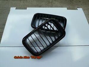 MIT GLOSS BLACK FRONT KIDNEY GRILLE BMW E36 3 SERIES 1991-1996