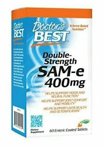 Doctor's Best SAM-e 400 mg - Mood & Joint Support, 60 Enteric Coated Tablets
