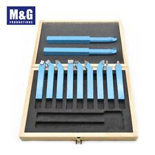 11PC Mini Lathe Tool Set Carbide Tip Metal Cutting Turning Boring Bit