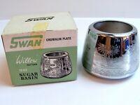 "Kitchenalia SWAN BRAND ""Willow Pattern"" 12oz Sugar Basin Cromalin Plate BOXED"