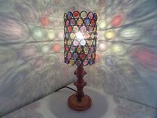 Lampada da tavolo mozzafiato stile marocchino Jeweled Cutwork Fiore Nuovissimo