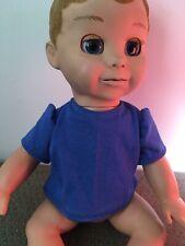 Dolls Clothes Handmade 43cm Baby Doll  ,Royal Blue  T Shirt