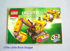 Lego Creator 4915 Mini Construction - INSTRUCTION BOOK ONLY - No Lego bricks