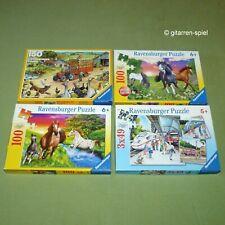 4 x Ravensburger Puzzle Komplett Top 3x49 100 150 Teile Pferde Bahnhof Bauernhof