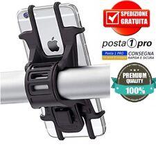 Porta Telefono Supporto Smartphone Silicone Manubrio Bici Monopattino Moto