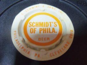 SCHMIDT'S of PHILA....BEER KEG CAP-COVER.....PLASTIC...1980-82