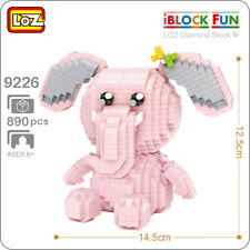 LOZ 9226 Pink Elephant Bow Animal Girl DIY Diamond Nano Blocks Mini Building Toy