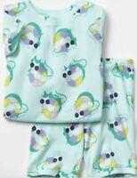 NWT - Girls Baby Gap Cat & Sunglasses Shorts Pajamas Set -  Size 18-24 Months