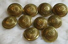 10 GOLD-TONE STAR METAL SHANK BUTTONS 7 5/8 in 3 3/4 in