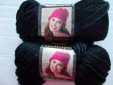 Lion Brand Landscapes roving yarn, Black, lot of 2 (147 yds each)