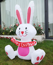 VIVOHOME 4' Inflatable Happy Easter Bunny Rabbit Colorful LED Light Yard Decor