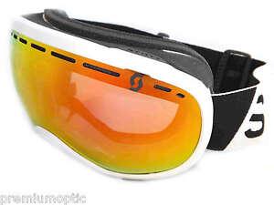 SCOTT Ski Goggles OFF-GRID performance model WHITE / Red CHROME Mirror 236510