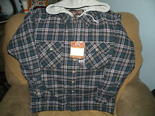 NWT Mens Flannel Shirt Hoodie Jacket, Size S, Moose Creek Outdoor Clothing