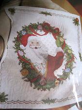 Bucilla Christmas Stamped Cross Stitch QUILT KIT,SANTA SURPRISE,Blanket,86056
