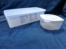 Vintage TUPPERWARE Fridge Smart  #4352 & Fresh n' Cool Container #5056 withLids