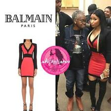 Balmain Paneled Bodycon Dress UK10 as on nicki minaj New