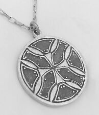 FASCINATING CROP CIRCLE STERLING SILVER PENDANT!