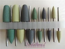 New 12pcs Dental SILICONE Polishers Resin Base Acrylic Polishing Burs 2.35mm