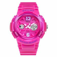 Womens Girls 12/24H Waterproof Digital Analog Backlight Alarm Sports Wrist Watch