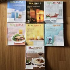 (7) Lot of Real Simple 2001 -2005 Back Issues Magazines Cooking Recipes Home