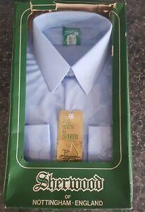 "Original & Vintage 1960's/70's Sherwood Bri Nylon Blue shirt ""17"" boxed"