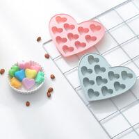 10 Holes Silicone Love Heart Shape Cake Mold Baking Tool Cake Decorating Mould