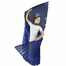 Danzcue Child M/L Solid Royal Blue Belly Dance Worship Angel Wings With Sticks