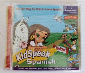Scholastic Books Kidspeak Kids Speak Spanish CD Rom Age 6+ Educational Game New