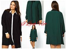ASOS Patternless Long Sleeve Plus Size Dresses for Women