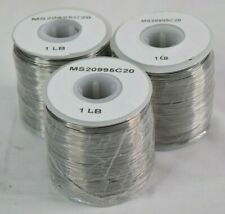 New ListingAircraft 302/304 Stainless Steel Safety Wire Ms20995C20 1lb. Spools *Lot of 3*