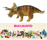 Dinosaures Triceratops Figurine de 23 cm Peint Mains Collection Bullyland 61432