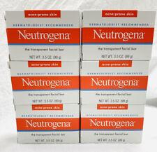 (6) Neutrogena Transparent Facial Bars, Acne-Prone Skin Formula, 3.5 oz