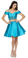 HOMECOMING QUEEN SHORT TWO PIECE PROM DRESS SWEET 16 COCKTAIL SEMI FORMAL PARTY