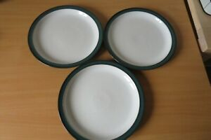 3 x DENBY GREENWICH 26½cm DINNER PLATES USED CONDITION