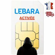 Carte SIM Prépayée Lebara mobile 4g(reseau Bouygues) sans Credit
