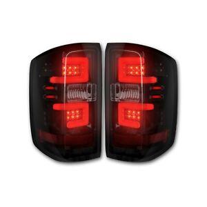 Recon For Sierra Silverado 1500 2500 3500 Black/Smoke Optic LED Lights 264297BK