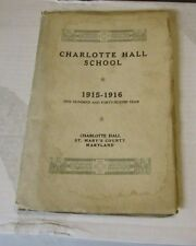 1915 1916 Charlotte Hall Military Academy School Catalogue Sports Student Photos