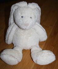 "Jellycat White Piper Bunny Rabbit Plush Super Soft 16"" Suede Trim & Nose Easter"