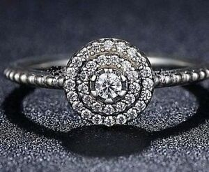 GENUINE SILVER 925 RADIANT CLASSIC ELEGANCE RING SIZE 58 - LIMITED INTRO SALE