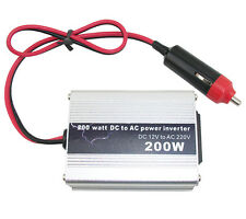 200W DC 12V to AC 220V Portable Car Power Inverter Adapter Charger Converter