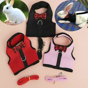Small Animal Harness Guinea Pig Hamster Rabbit Squirrel Vest Clothes Lead Pet