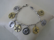 Lucky Brand Two Tone Seaside Charm Bracelet
