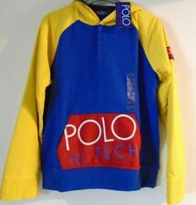 Polo Ralph Lauren Boys Hoodie Age 14-16 Years 90's Revisited Hybrid NEW £95